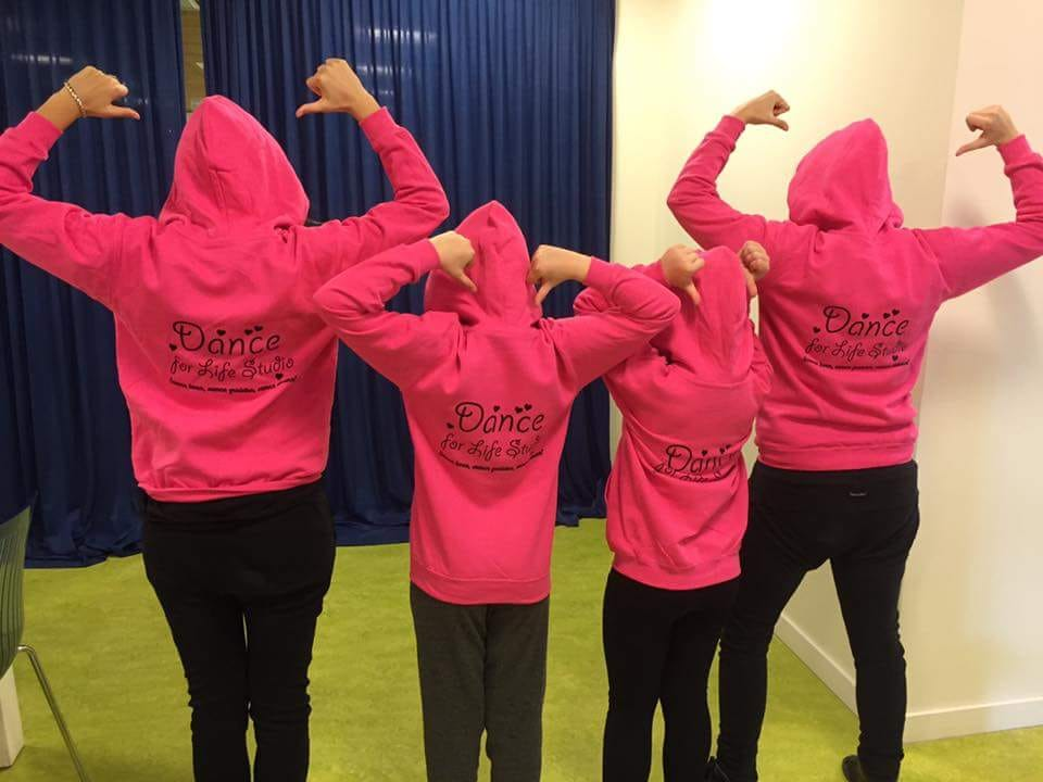 Dance for life sweater bedrukken delft zoetermeer