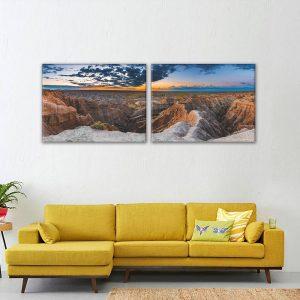 Canvas met foto landschap natuur mooi reclamewerk