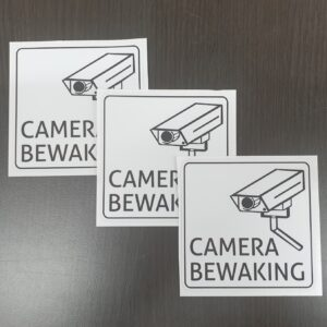 camerabewaking sticker set