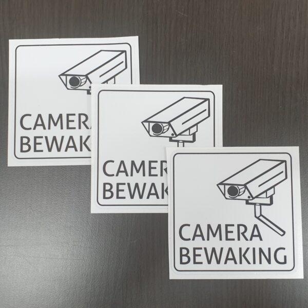 camerabewaking sticker set