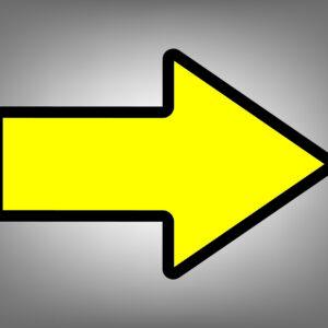 houd afstand horeca vloersticker delft zoetermeer pijl richting geel zwart