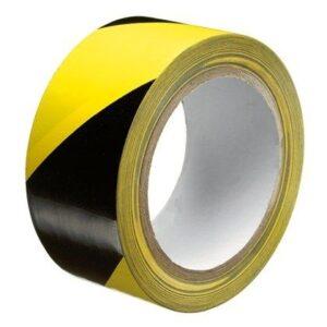 Vloermarkerings tape vloertape geel zwart covid 19 corona